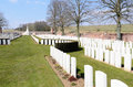 Ancre british cemetery beaumont hamel france april st where commonwealth casualties of the first world war are buried or Royalty Free Stock Images