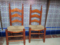 Andalucian Chairs Royalty Free Stock Photo