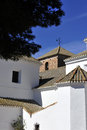 Andalucian Church and village Spain Royalty Free Stock Images