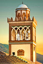 Andalucian minaret Stock Photo