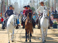 Andalusia, Spain, Fair of horse, Horse parade Royalty Free Stock Photo