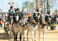 Andalusia spain fair of horse horses carriage in jerez Stock Photography