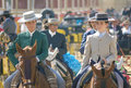 Andalusia, Spain, Fair of horse, Tradition of andalusía Royalty Free Stock Photo
