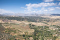 Andalusian countryside views of from ronda town malaga spain Stock Image