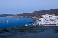 Andalusian fishing village at dusk cabo de gata spain Stock Photo