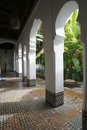 Andalusian garden of Dar Jamai Museum Stock Photography