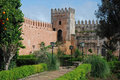 Andalusian Garden located in the Ouida Kasbah - Rabat- Morocco Royalty Free Stock Photo