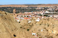 Andalusian town Guadix and her cave houses, Spain Royalty Free Stock Images