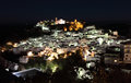 Andalusian village Casares at night Royalty Free Stock Images
