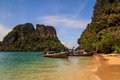 Andaman island longtail boat at hong sea krabi thailand Stock Images