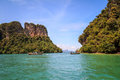 Andaman island longtail boat at hong sea krabi thailand Royalty Free Stock Images