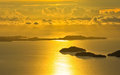Andaman sea thailand the golden sunset in Stock Photography