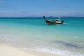 Andaman sea thailand tourist boat off the coast of the islands of phi phi Stock Photos