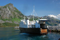 Norway - Car Ferry Andenes-Gryllefjord with open tailgate Royalty Free Stock Photo