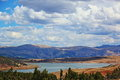 Andes mountains cusco peru view of the and lake in Royalty Free Stock Photo