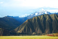 Andes peru rural area at the foot of the Royalty Free Stock Images