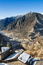 Andorra aerial view of from engolasters valley Royalty Free Stock Image