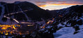 Andorra day to night panorama Royalty Free Stock Photo