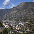 Andorra la vella andorra the main town of in the small autonomous principality of in the southern pyrenees between france and Royalty Free Stock Photography