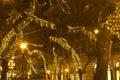 Andrassy way at christmastime Royalty Free Stock Photo