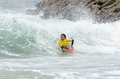 Andre rodrigues ovar portugal august at the nd stage of the bodyboard protour on august in ovar portugal Stock Photo