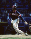 Andre thornton cleveland indians b image taken from color slide Royalty Free Stock Image