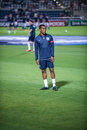 Andre wisdom in englands national team under israel Royalty Free Stock Photo