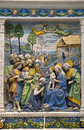Andrea della robbia — adoration of the magi by florentine sculptor victoria and albert museum london Royalty Free Stock Photos