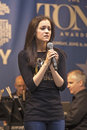 """Andrea goss sings cabaret at """"stars in the alley """" a free outdoor concert produced by the broadway league the venue was Royalty Free Stock Photography"""