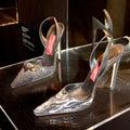 Andrea Pfister's shoes Stock Photos