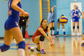 Andreea Ispas, a volleyball young libero playing in CSM Bucharest - CSM Lugoj match Royalty Free Stock Photo