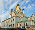Andreevsky church in Kiev Stock Images
