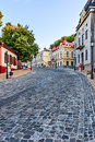 Andreevsky descent one of the ancient routes of kiev ukraine august in kyiv connecting upper city its central part with podol Royalty Free Stock Images