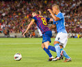 Andres Iniesta in action Royalty Free Stock Photo