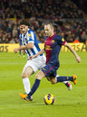 Andres Iniesta in action Stock Photography