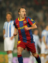 Andres Iniesta of Barcelona Royalty Free Stock Photo