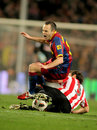 Andres Iniesta of Barcelona Stock Photo