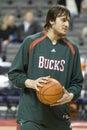 Andrew Bogut of the Milwaukee Bucks Royalty Free Stock Images