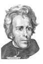 Andrew Jackson portrait Royalty Free Stock Photo