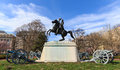 Andrew Jackson Statue, Washington DC. Royalty Free Stock Photo