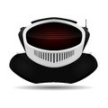 Android icon robot head with a screen instead of a face Royalty Free Stock Photography