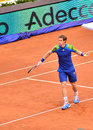 Andy murray playing against florian mayer at mutua open madrid th may Stock Images