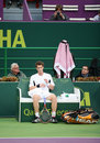 Andy Murray at Qatar tennis 2009 Royalty Free Stock Photography