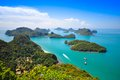 Ang thong national marine park thailand top view of in phang nga Stock Images