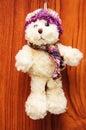 Angefüllte weinlese toy dog Stockbild