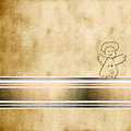 Angel background first communion on sepia and copy space for text Royalty Free Stock Images
