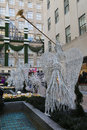 Angel Christmas Decorations at the Rockefeller Center in Midtown Manhattan Royalty Free Stock Photo