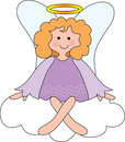 Angel on Cloud Royalty Free Stock Photos