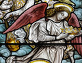 An angel with a crown (stained glass) Royalty Free Stock Photo
