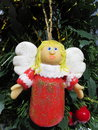 Angel cute handmade christmas decoration Royalty Free Stock Photo
